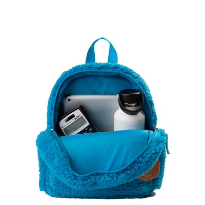 Alternate view of Seasame Street Cookie Monster Plush Backpack - Blue