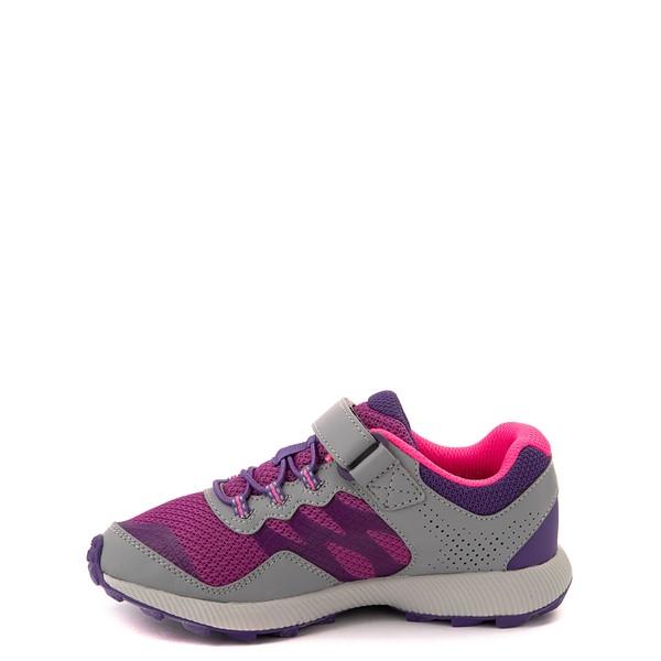 alternate view Merrell Nova 2 Sneaker - Little Kid / Big Kid - Gray / Purple / BerryALT1