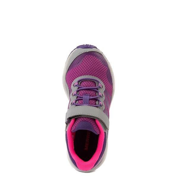 alternate view Merrell Nova 2 Sneaker - Little Kid / Big Kid - Gray / Purple / BerryALT2
