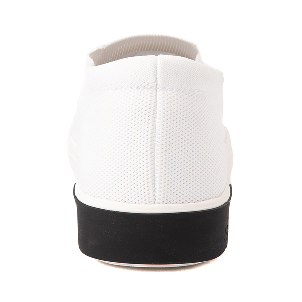 alternate view Mens Strauss and Ramm Slip On Casual Shoe - WhiteALT4