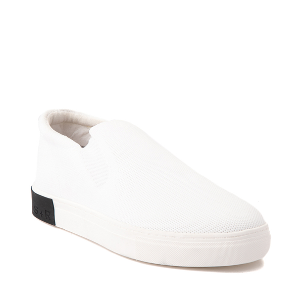 alternate view Mens Strauss and Ramm Slip On Casual Shoe - WhiteALT5