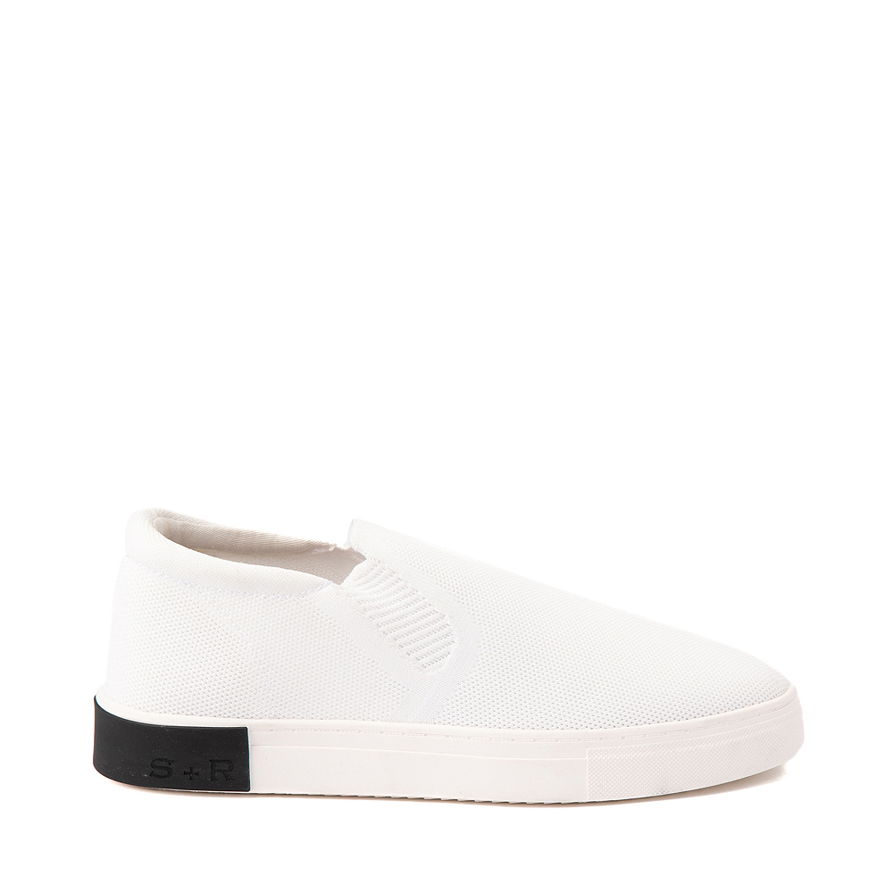 Mens Strauss and Ramm Slip On Casual Shoe - White