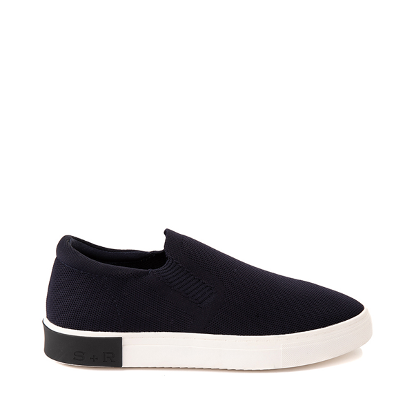Main view of Mens Strauss and Ramm Slip On Casual Shoe - Navy