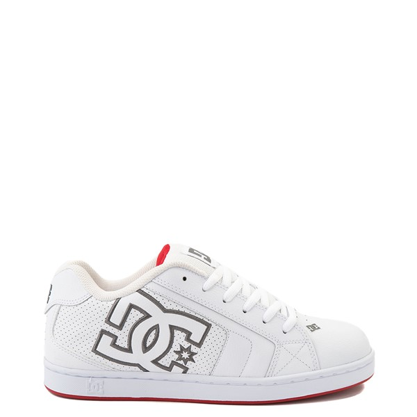 Main view of Mens DC Net Skate Shoe - White / Red