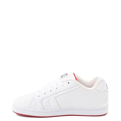 Alternate view of Mens DC Net Skate Shoe - White / Red