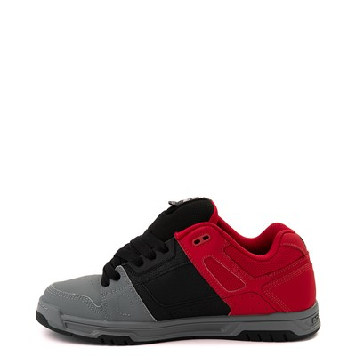 Alternate view of Mens DC Stag Skate Shoe - Red / Black / Gray
