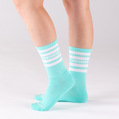 Alternate view of Womens Converse Bright Crew Socks 6 Pack - Multicolor