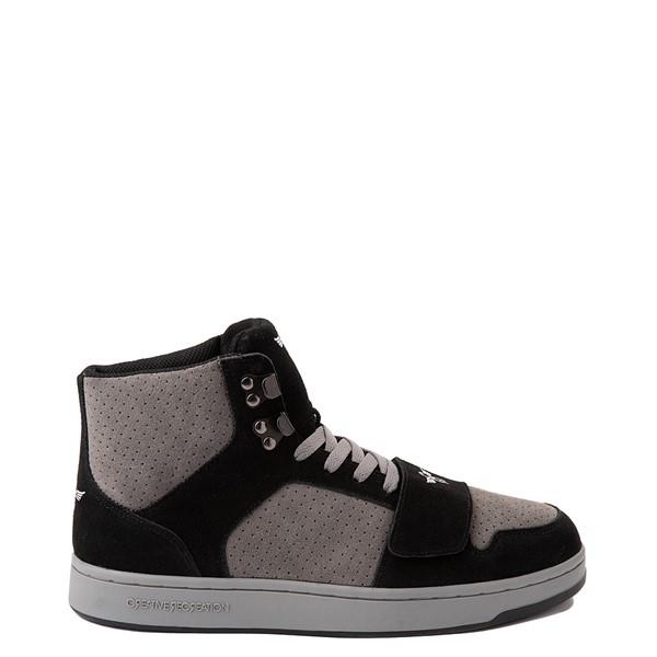 Main view of Mens Creative Recreation Cesario Hi XXI Sneakers - Black / Gray