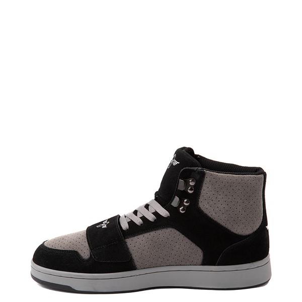 alternate view Mens Creative Recreation Cesario Hi XXI Sneakers - Black / GrayALT1