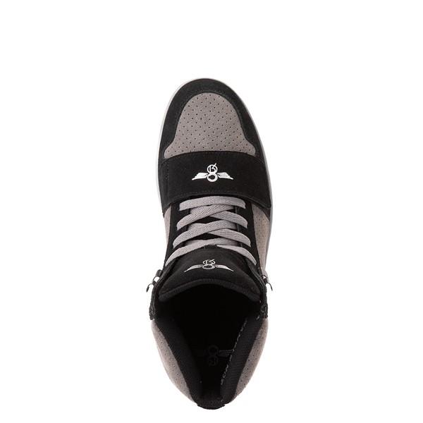 alternate view Mens Creative Recreation Cesario Hi XXI Sneakers - Black / GrayALT2