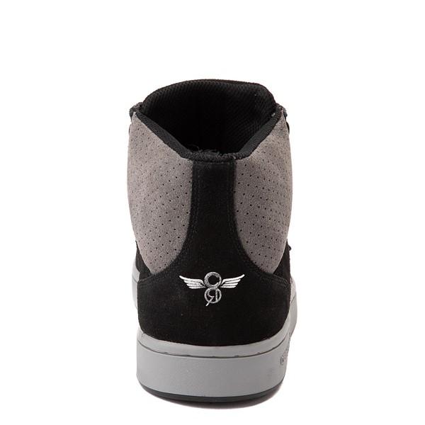 alternate view Mens Creative Recreation Cesario Hi XXI Sneakers - Black / GrayALT4