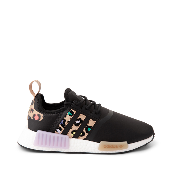 Womens adidas NMD R1 Athletic Shoe - Black / Party Leopard