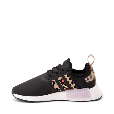 Alternate view of Womens adidas NMD R1 Athletic Shoe - Black / Party Leopard