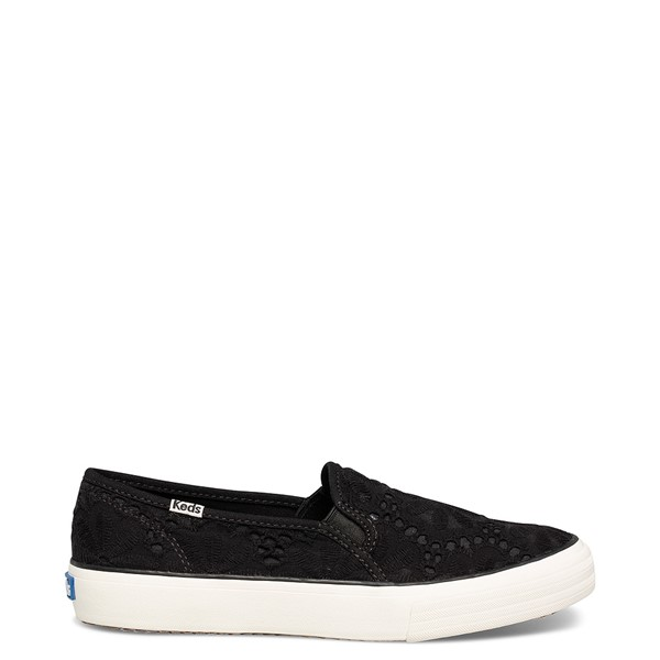Main view of Womens Keds Double Decker Eyelet Slip On Casual Shoe - Black