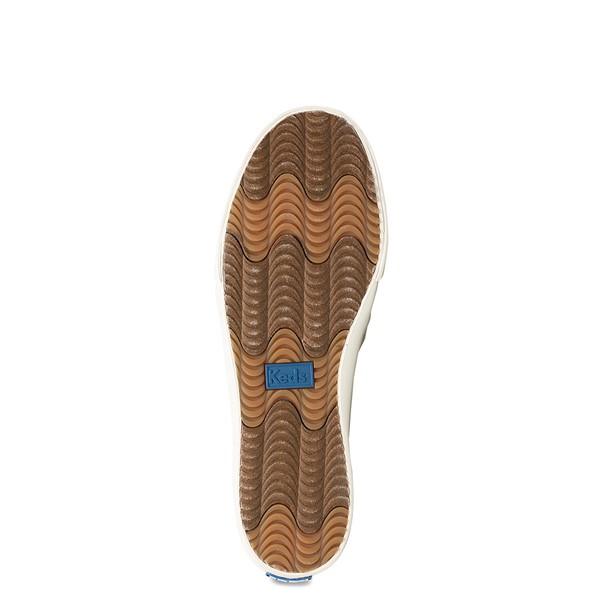alternate view Womens Keds Double Decker Ribbed Wave Slip On Casual Shoe - CreamALT3