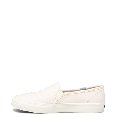 Alternate view of Womens Keds Double Decker Ribbed Wave Slip On Casual Shoe - Cream
