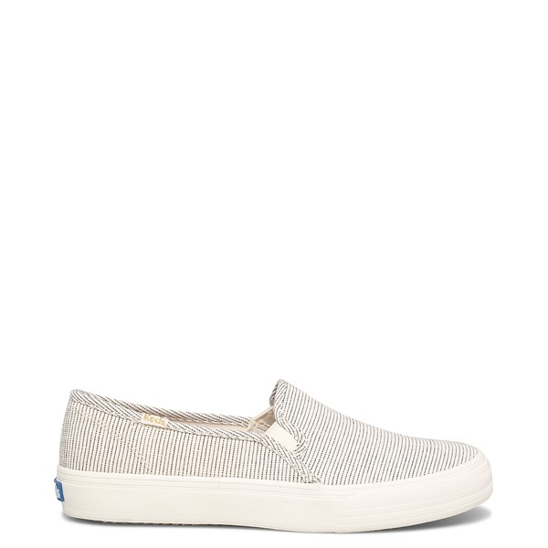 Main view of Womens Keds Double Decker Ikat Stripe Slip On Casual Shoe - Cream / Black