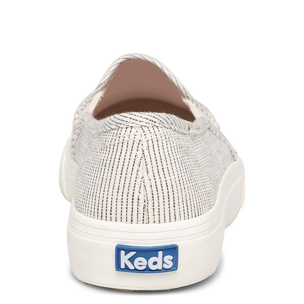 alternate view Womens Keds Double Decker Ikat Stripe Slip On Casual Shoe - Cream / BlackALT2B