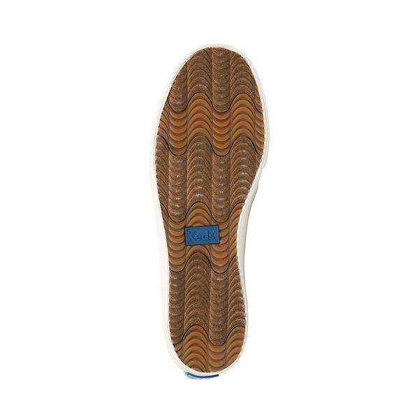 alternate view Womens Keds Double Decker Ikat Stripe Slip On Casual Shoe - Cream / BlackALT3