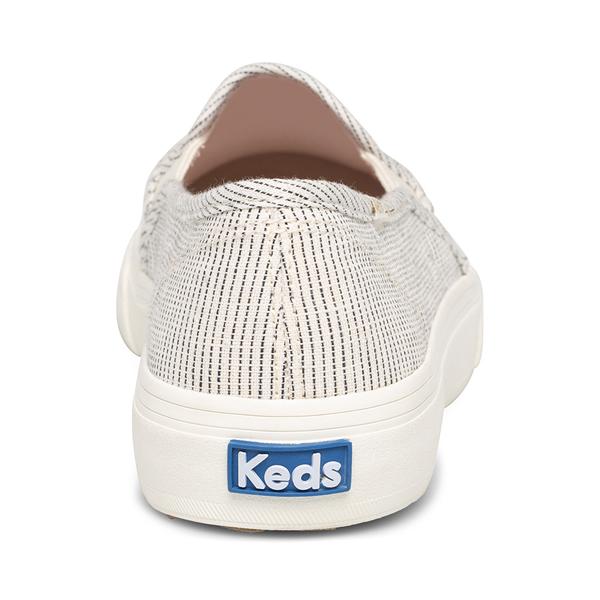 alternate view Womens Keds Double Decker Ikat Stripe Slip On Casual Shoe - Cream / BlackALT4