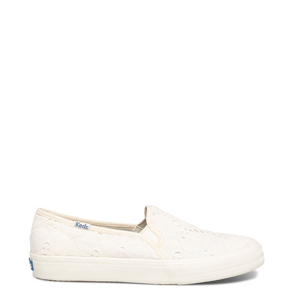 Main view of Womens Keds Double Decker Eyelet Slip On Casual Shoe - Snow White