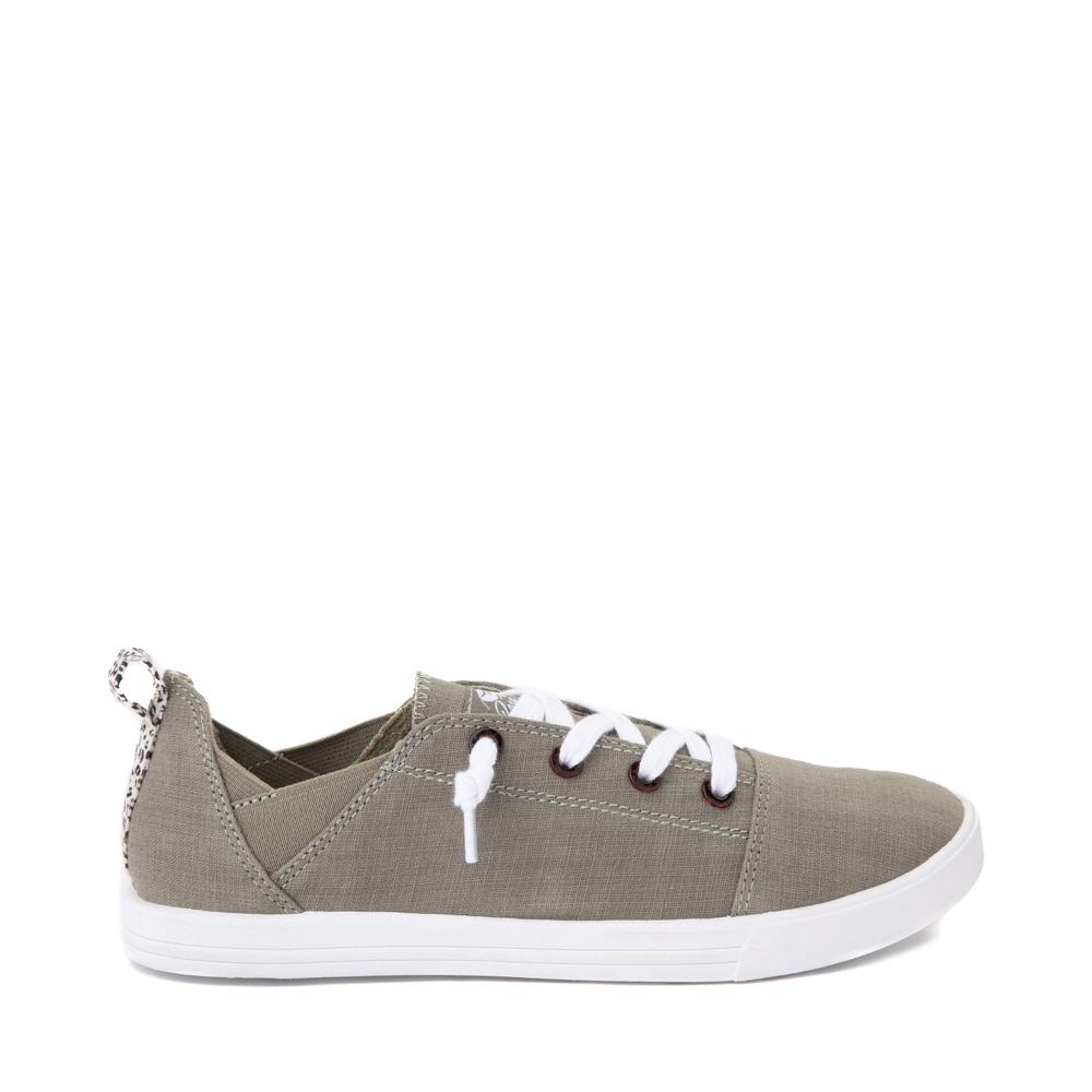 Womens Roxy Libbie Slip On Casual Shoe - Olive
