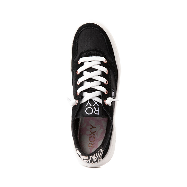 alternate view Womens Roxy Harper Slip On Casual Shoe - Black / ZebraALT2