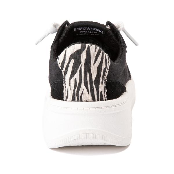 alternate view Womens Roxy Harper Slip On Casual Shoe - Black / ZebraALT4