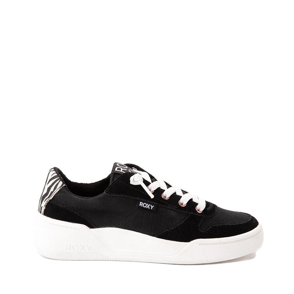 Womens Roxy Harper Slip On Casual Shoe - Black / Zebra