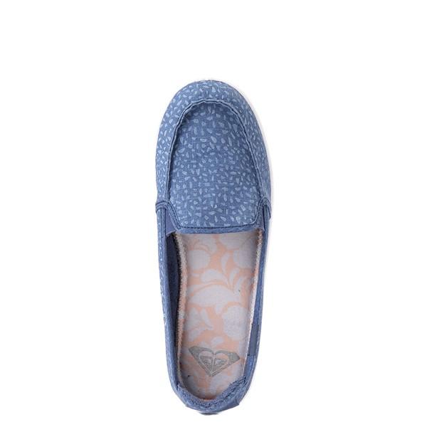 alternate view Womens Roxy Minnow Slip On Casual Shoe - Baja BlueALT2