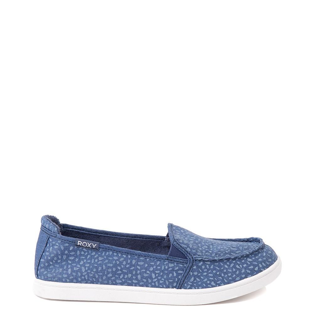 Womens Roxy Minnow Slip On Casual Shoe - Baja Blue