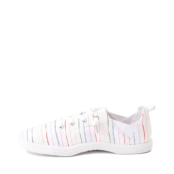 alternate view Womens Roxy Libbie Slip On Casual Shoe - White / Rainbow StripesALT1