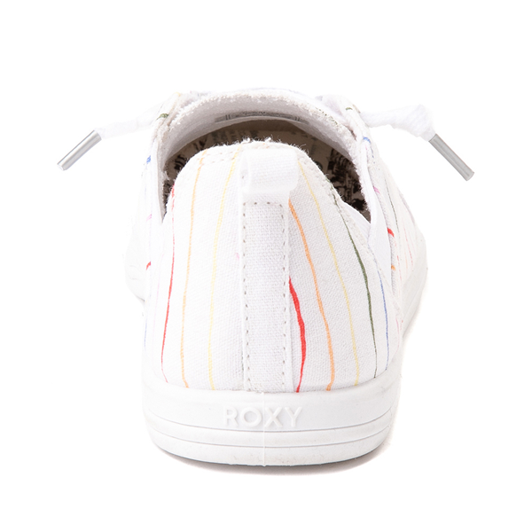 alternate view Womens Roxy Libbie Slip On Casual Shoe - White / Rainbow StripesALT4