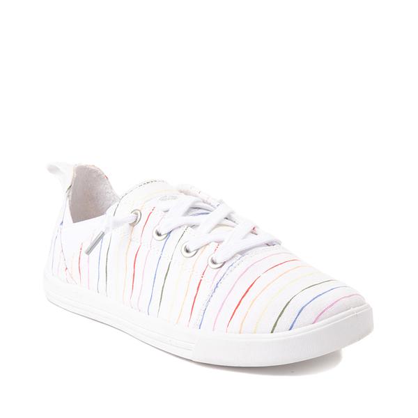 alternate view Womens Roxy Libbie Slip On Casual Shoe - White / Rainbow StripesALT5