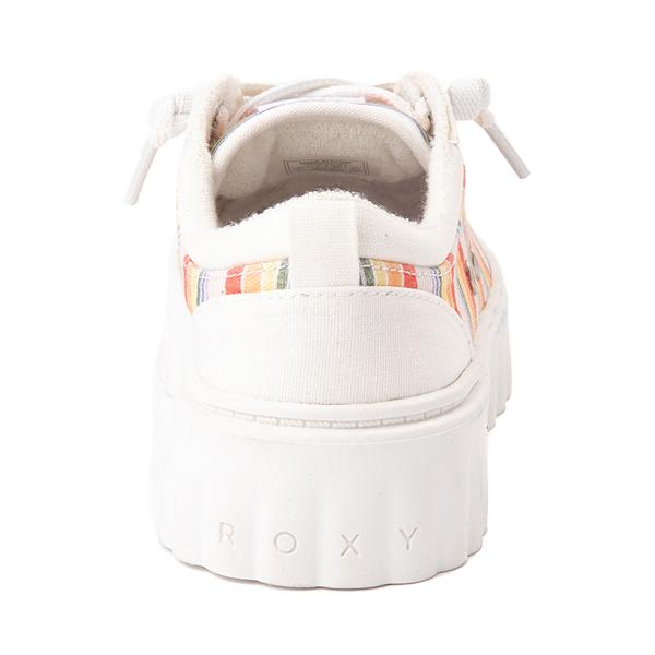 alternate view Womens Roxy Sheilahh Platform Casual Shoe - White / RainbowALT4