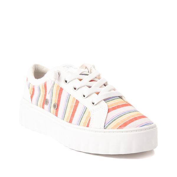 alternate view Womens Roxy Sheilahh Platform Casual Shoe - White / RainbowALT5