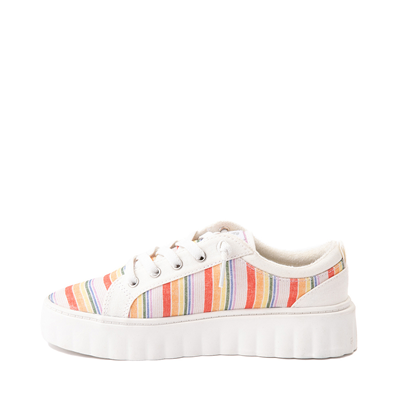 Alternate view of Womens Roxy Sheilahh Platform Casual Shoe - White / Rainbow