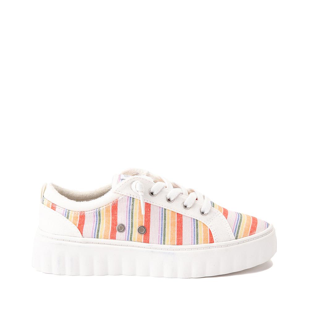 Womens Roxy Sheilahh Platform Casual Shoe - White / Rainbow