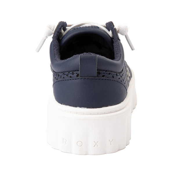 alternate view Womens Roxy Sheilahh Platform Casual Shoe - NavyALT4