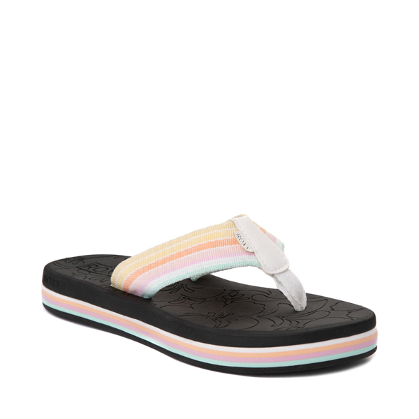alternate view Womens Roxy Colbee Hi Sandal - Black / MulticolorALT5