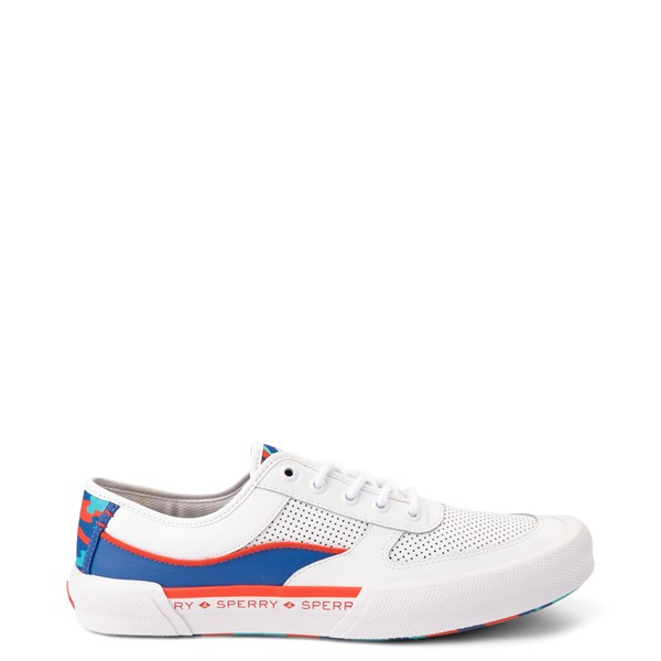 Mens Sperry Top-Sider Soletide Sneaker - White / Blue / Red Camo