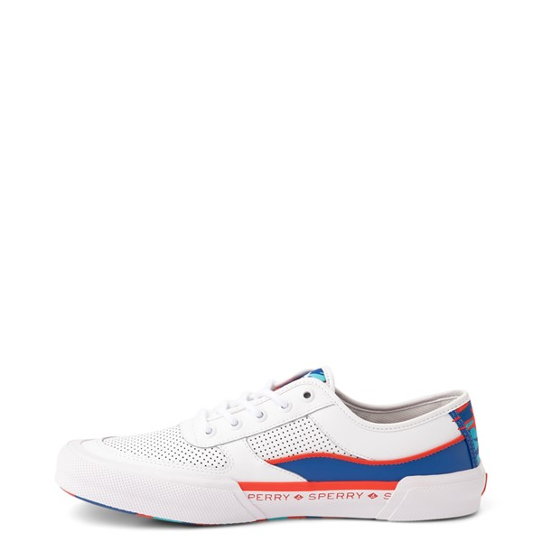alternate view Mens Sperry Top-Sider Soletide Sneaker - White / Blue / Red CamoALT1