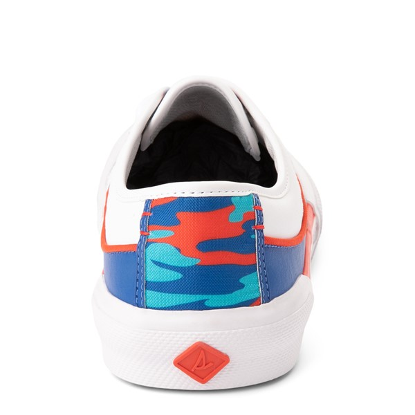 alternate view Mens Sperry Top-Sider Soletide Sneaker - White / Blue / Red CamoALT4