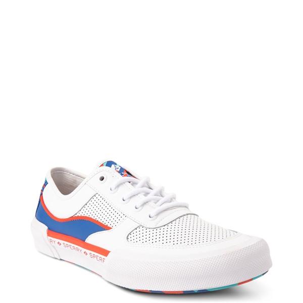 alternate view Mens Sperry Top-Sider Soletide Sneaker - White / Blue / Red CamoALT5