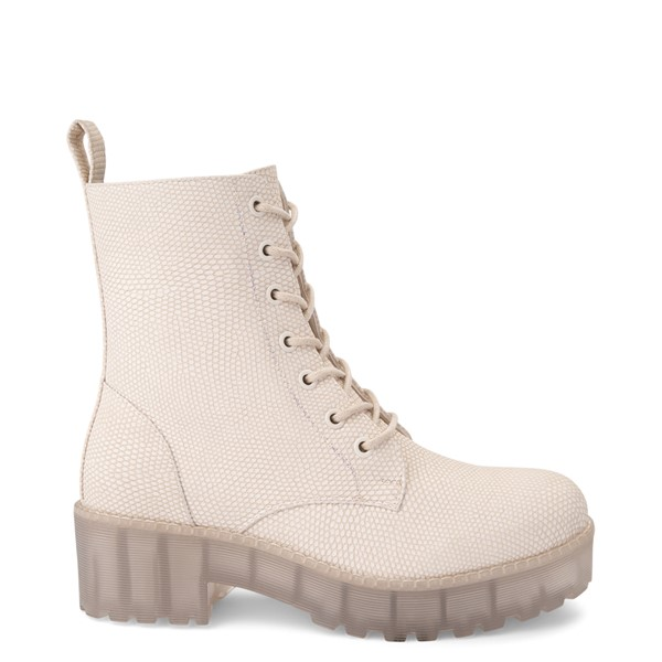 Womens Dirty Laundry Mazzy Lizard Platform Boot - Cream / Clear