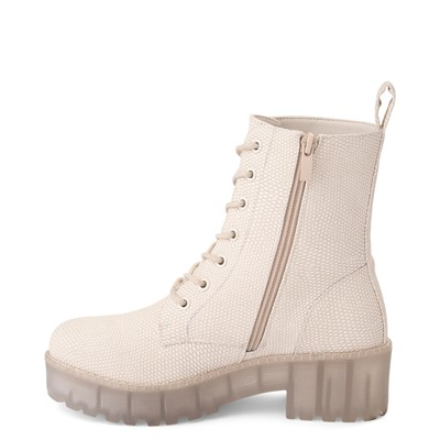 Alternate view of Womens Dirty Laundry Mazzy Lizard Platform Boot - Cream / Clear