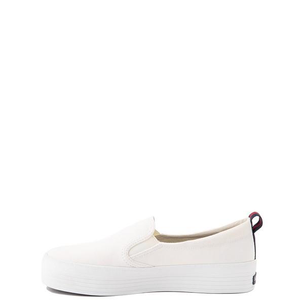 alternate view Womens Sperry Top-Sider Crest Platform Slip On Casual Shoe - WhiteALT1