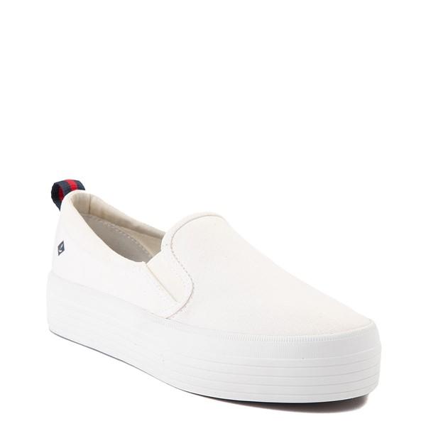 alternate view Womens Sperry Top-Sider Crest Platform Slip On Casual Shoe - WhiteALT5
