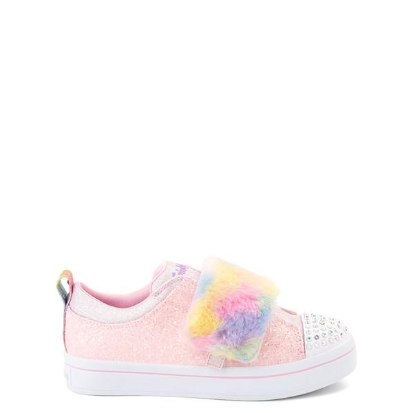 Main view of Skechers Twinkle Toes Twi-Lights Ooh La Fur Sneaker - Little Kid - Light Pink / Multicolor
