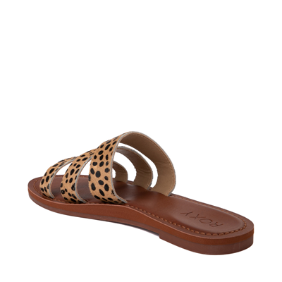 Alternate view of Womens Roxy Wyld Rose Slide Sandal - Cheetah